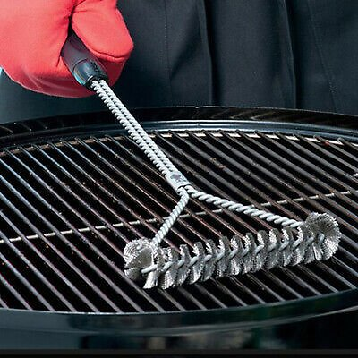 Barbecue Grill BBQ Brush Clean Tool Grill Accessories Stainless Steel Non-stiBW