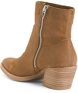 Nubuck Leather Pointy Toe Boots