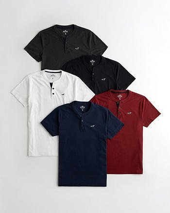 Guys Must-Have Henley T-Shirt 5-Pack