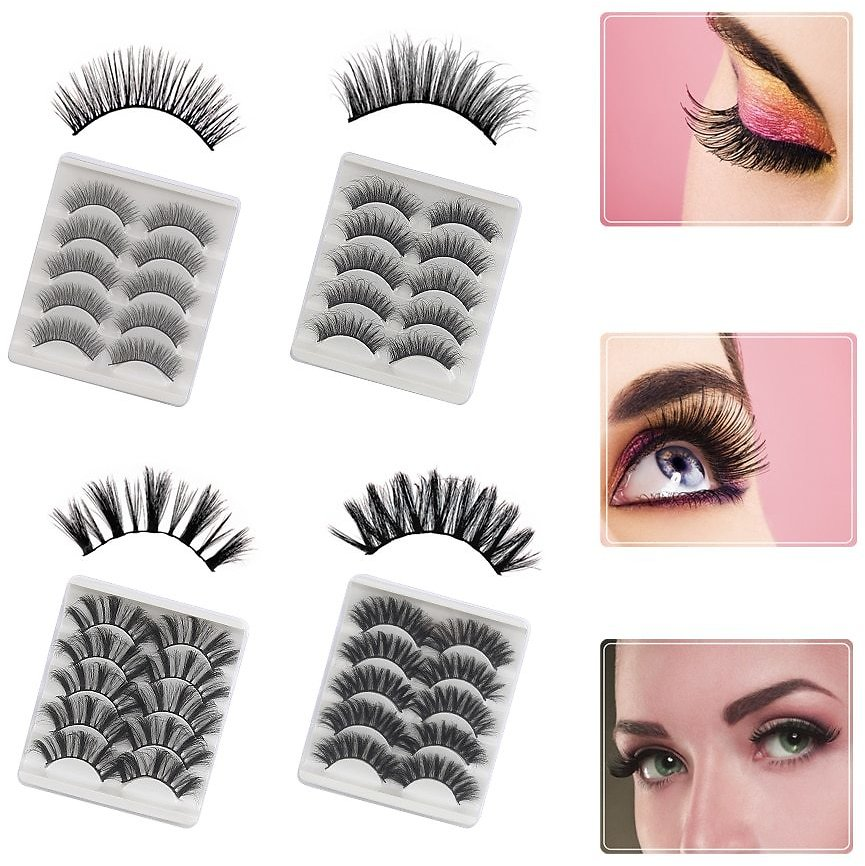 US $1.41 58% OFF|5pairs 3D False Eyelashes Mink Lashes Pack Natural False Eyelashes Extension Volume Fake Eye Lashes Bulk Boxes Wholesale Makeup|False Eyelashes| - AliExpress