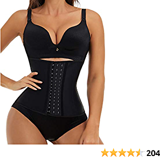EESIM Breathable Waist Trainer with Extender for Women Corset Cincher Body Shaper Sport Girdle