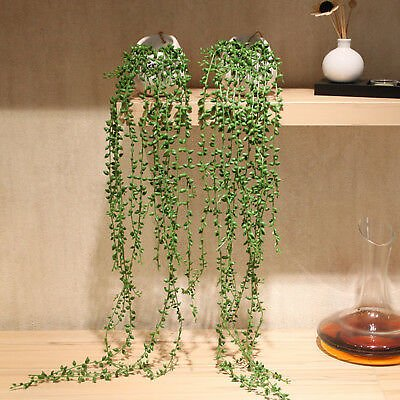 Artificial Succulent Plants Green Vines Flower Hanging Rattan Room/Party Decor