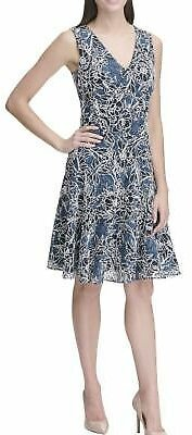 TOMMY HILFIGER NEW Women's Floral Outline Lace Fit & Flare Dress 2 TEDO