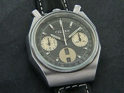 Vintage 70s Citizen Bullhead Chronograph Automatic Cal. 8110 Silver Dial V17 for Sale Online
