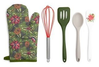 Core Kitchen™ 5-Piece Holiday Baking Set in Green | Bed Bath & Beyond