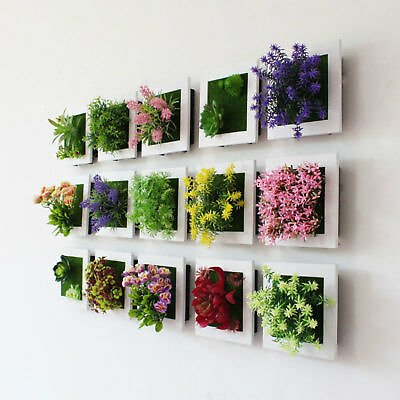 Artificial Meat Plant Square Frame Wall Hanging Fake Green Succulent Home Supply