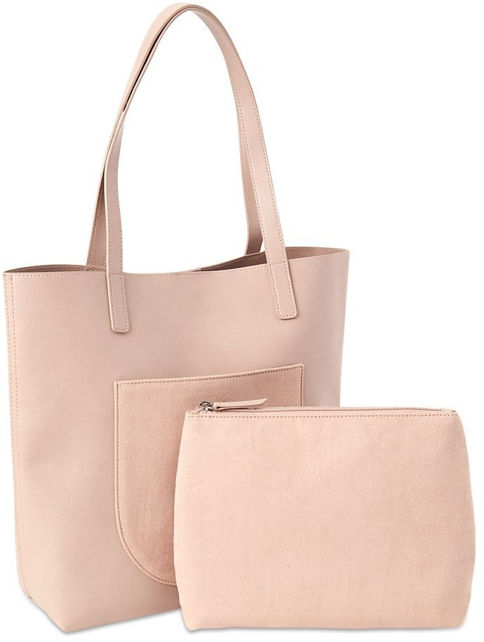 Time and Tru Elisa Tote Bag with Bonus Pouch
