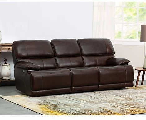 Aleena Leather Power Reclining Sofa with Power Headrest