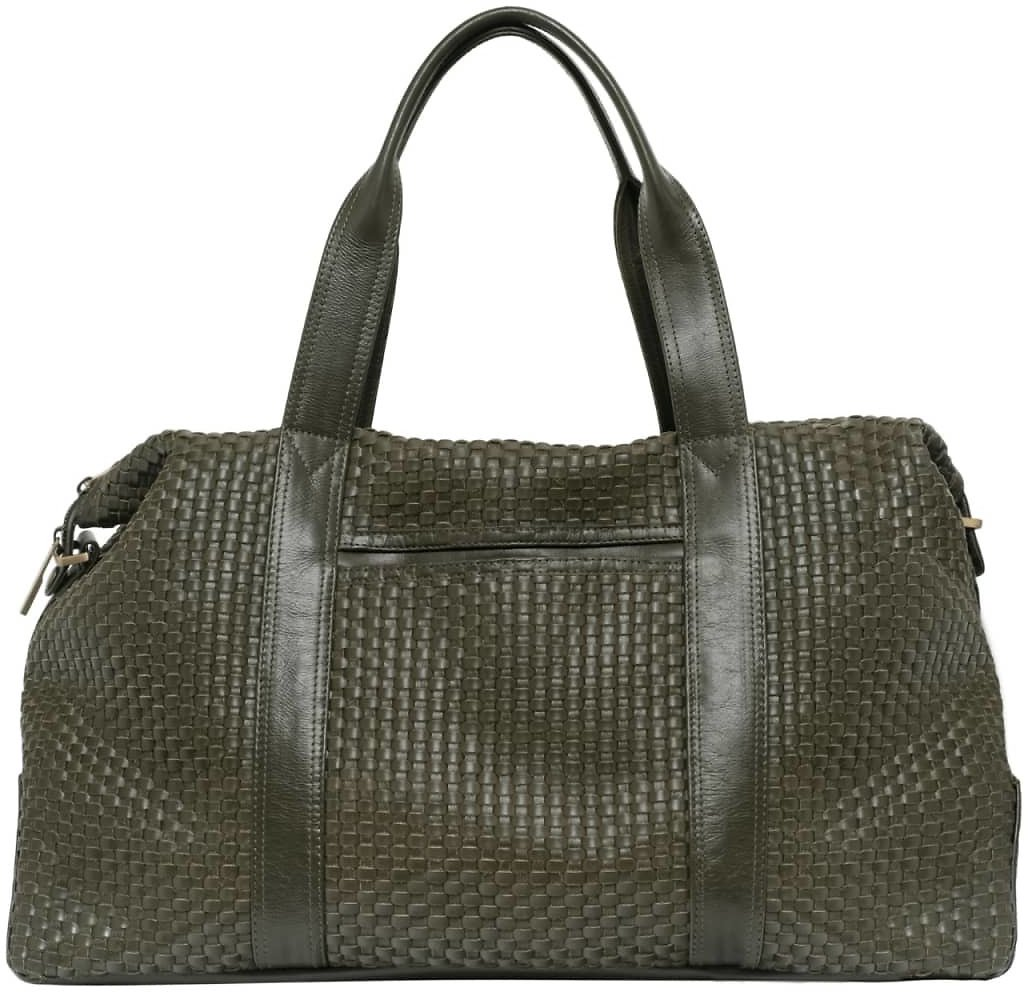 Hester Meets Chatwin – The Intrecciato Duffel Bag - Green