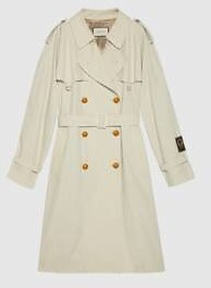 Gucci - Cotton Trench with Gucci Label