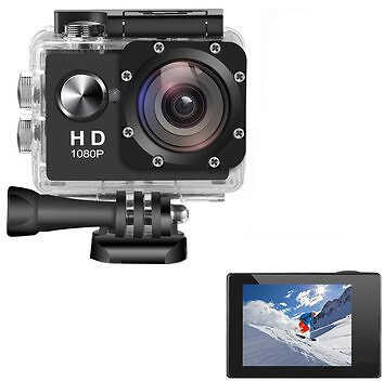 AUGIENB 2 Inches 4K HD 1080P Screen 300,000Pixels Sport Camera Underwater 30m Action DVR Camcorder Waterproof Hunting Camera