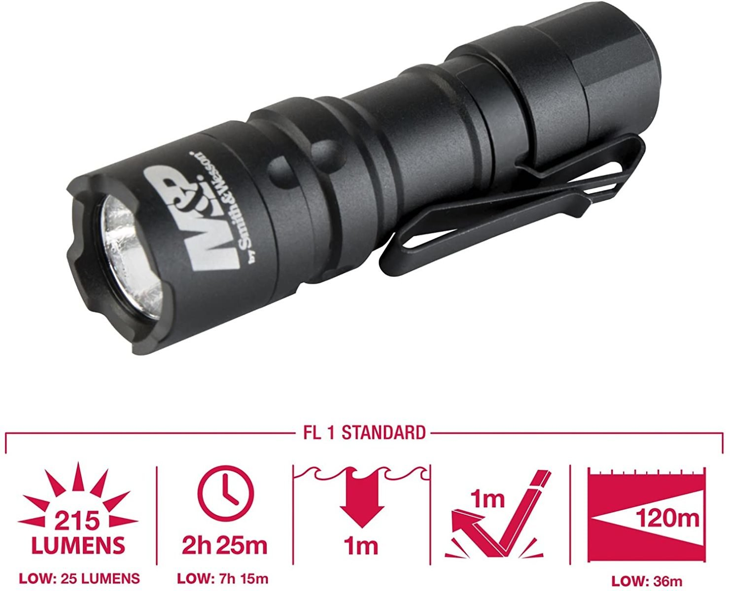 Smith & Wesson M&P Delta Force CS 1xCR123 215 Lumen Flashlight with 4 Modes
