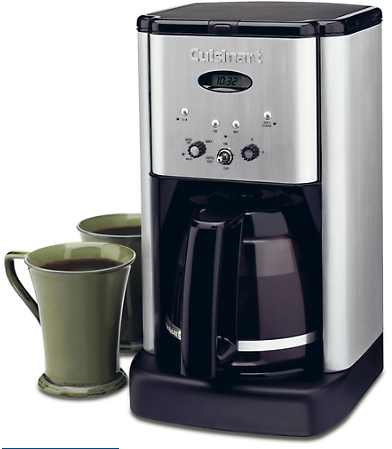 Cuisinart DCC-1200 Brew Central 12 Cup Programmable Coffeemaker, Black/Silver, Refurbished
