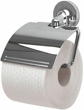Spirella Lagoon Paper Holder with Lid Toilet Roll Holder Branded Product 7610583031655