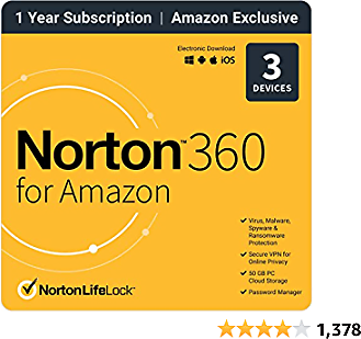 Norton 360 for Amazon 2021 (3 Devices)