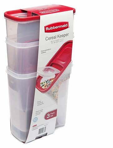 Rubbermaid Cereal Keeper, 3 Pk