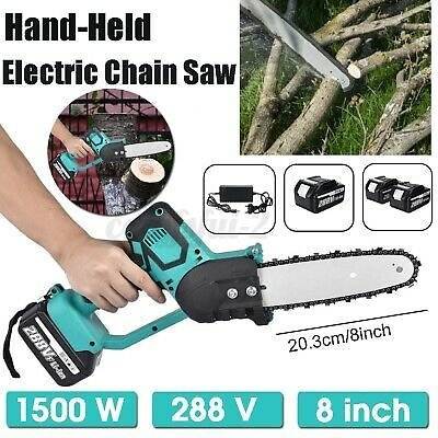 288v 1500w Cordless Elettrosega Electric Chainsaws Battery with 1/2 Battery