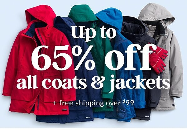 Starts Today! Up to 65% Off ALL Coats & Jackets! Land's End