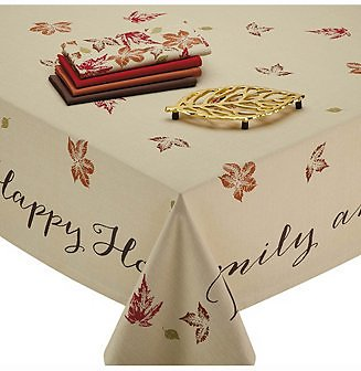 Design Imports Rustic Leaves Print Tablecloth & Reviews - Table Linens - Dining
