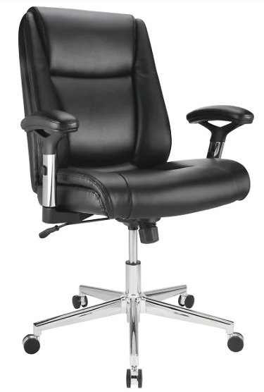 Realspace Leather Mid-Back Manager's Chair