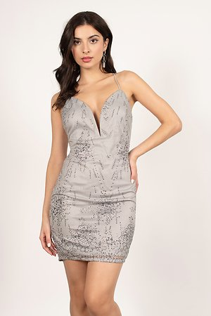Fairy Tale Plunging Bodycon Dress