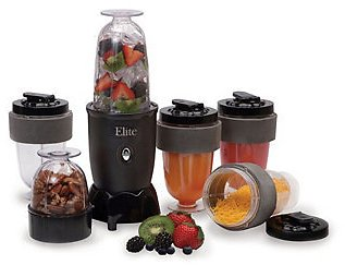17 Pcs Maxi-Matic Elite Cuisine Personal Drink Blender with 4 X 16 Ounce Travel Cups