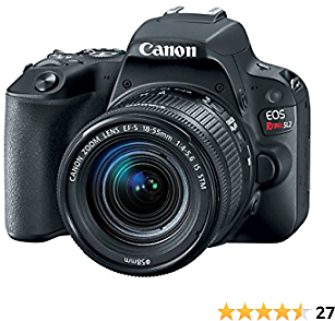 Canon EOS Rebel SL2 with 18-55mm Digital SLR Camera Kit 2249C002 (Renewed)