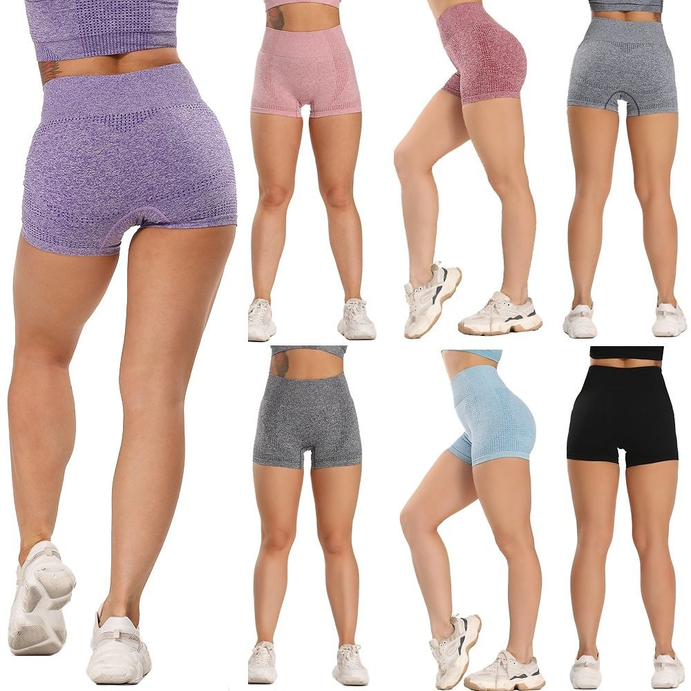 High Waist Energy Seamless Yoga Shorts Fitness Workout Clothing Push Up Hip Gym Shorts Sports Running Women Gym Leggings