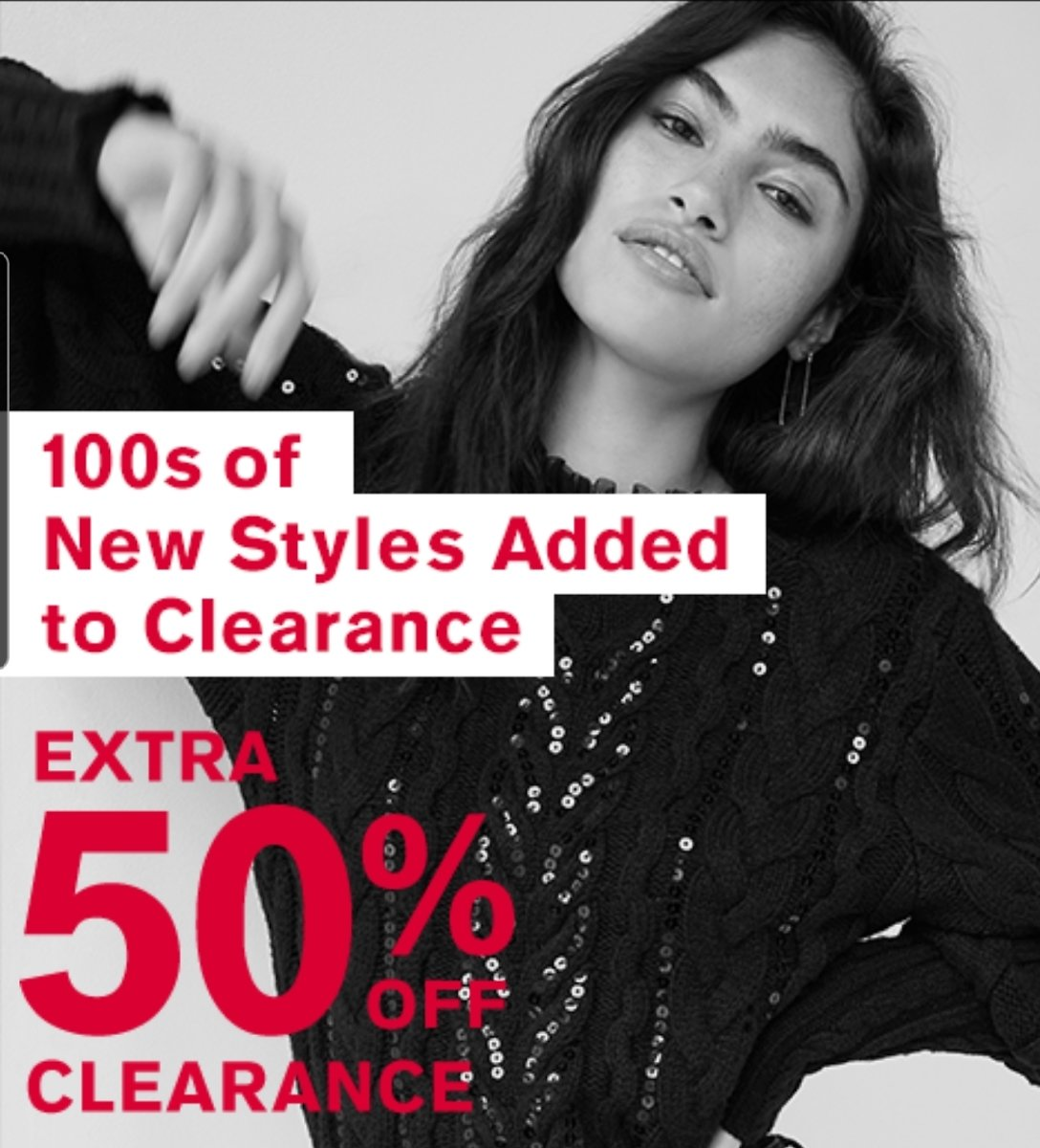 100s Of New Styles Added + Extra 50% Off Clearance Sale