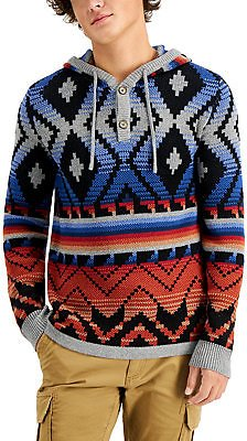 Sun + Stone Men's Sunset Hoodie Sweater, Created for Macy's & Reviews - Sweaters - Men