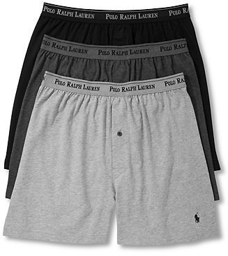 Polo Ralph Lauren Men's 3-Pk. Cotton Classic Knit Boxers & Reviews - Underwear & Socks - Men