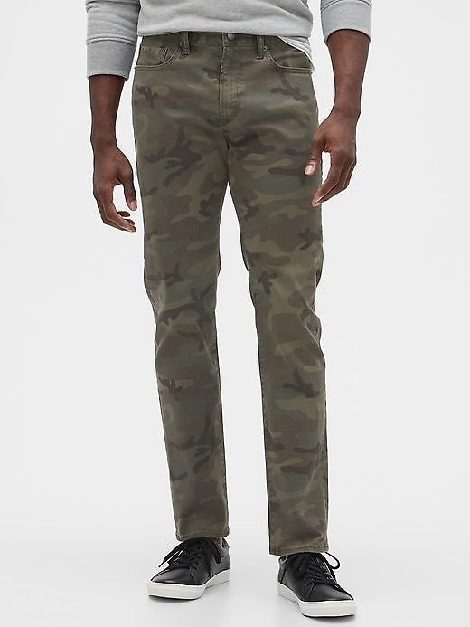 Skinny Fit Camo Jeans with GapFlex   Gap Factory