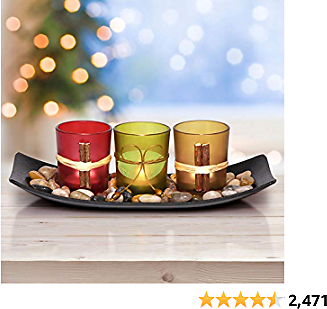 Letine Home Decor Clearance Candle Holders Set for Living Room & Bathroom Decor, Decorative Candle Holder for Dining Room Table for Women, Men, Mom, Dad.