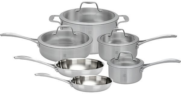 Zwilling JA Henckels Spirit 11 Pieces Stainless Steel Cookware Set