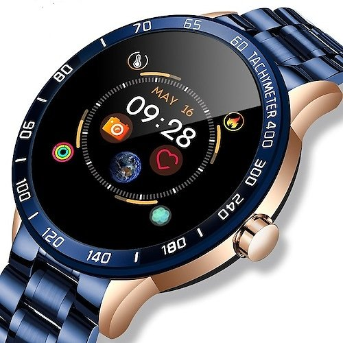 Smart Watch Big Touch Screen Fitness Tracker ECG PPG Heart Rate Monitor Blood Oxygen SpO2 QQ Msn Facebook Reminding