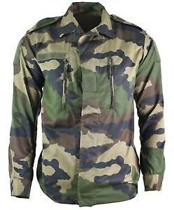 Genuine French Army F2 Combat Jacket Fatigue CE Camo Military Issue Surplus NEW