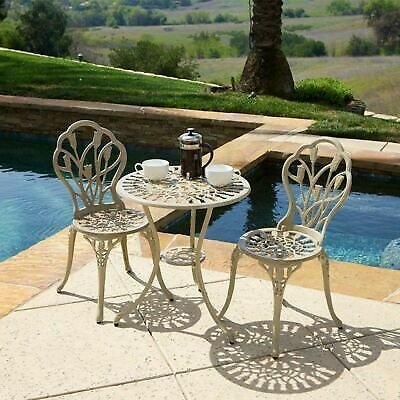 Sonoma Outdoor Vintage Style Cast Aluminum Bistro Set with Tulips 637162117163
