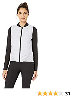 Amazon Brand - Core 10 Women's (XS-3X) Lightweight Insulated Fitted Run Vest