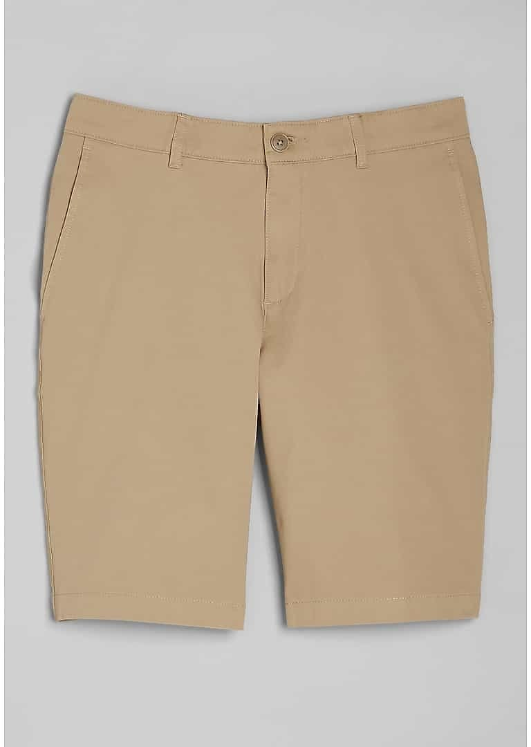 Traveler Collection Tailored Fit Flat Front Twill Shorts - Big & Tall