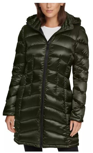 Hooded Packable Down Puffer Coat (Mult. Color)