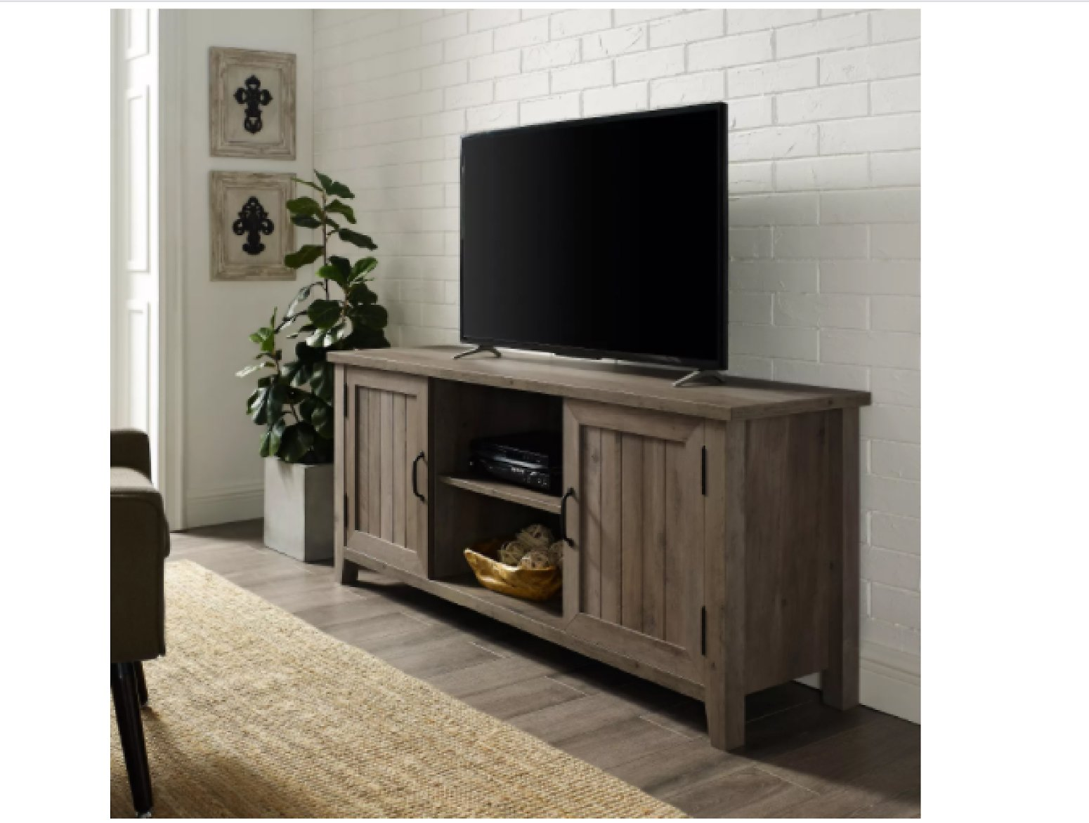 Modern Farmhouse TV Stand for TVs Up to 65