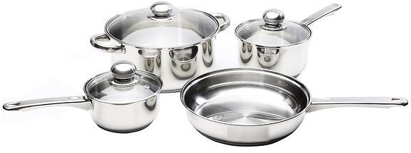 Kinetic Classicor 7-Piece Stainless Steel Cookware Set with Lids