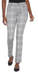 Outlet WHBM Plaid Slim Ankle Jeans