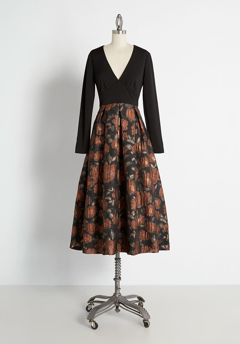 Has It Made in Brocade Twofer Dress