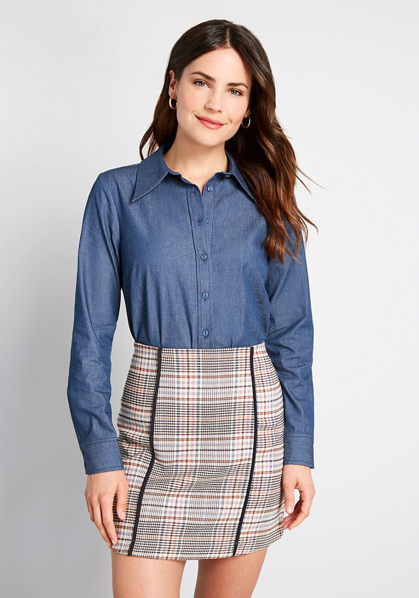 A New Classic Button-Up Top
