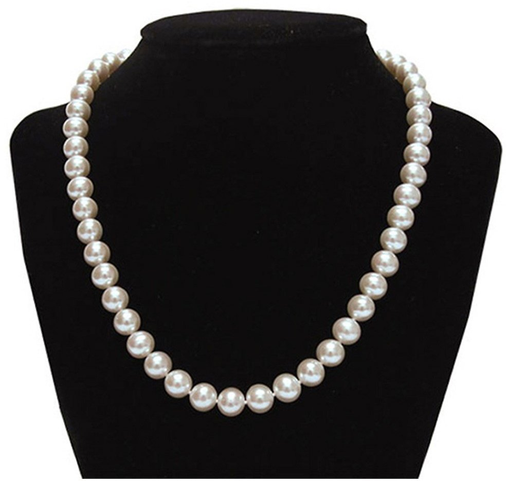 Genuine 9.5-10mm Freshwater Cultured Pearl Necklace In Sterling Silver