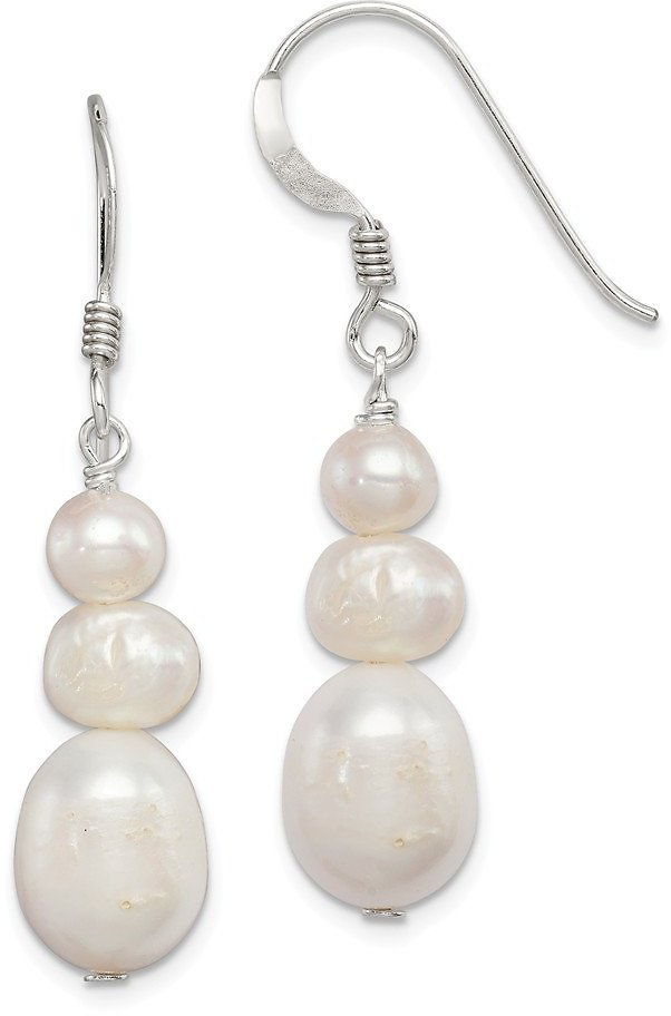 Solid 925 Sterling Silver Pearl Dangle Earrings Fine Jewelry Ideal Gifts For Women Gift Set From Heart