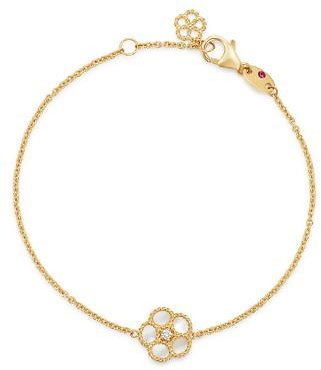 Roberto Coin 18K Yellow Gold Daisy Mother-of-Pearl & Diamond Chain Bracelet - 100% Exclusive Jewelry & Accessories - Bloomingdale's