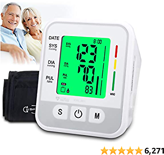 Atrilly Blood Pressure Monitor, Automatic Digital Bp Monitor Upper Arm with Cuff 22-32cm, Large Screen, 2x99 Memory, Blood Pressure Machine Pulse Rate Monitor for 2 User Home Personal Use