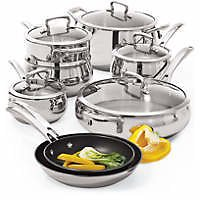 Biltmore 13 Piece Belly Shaped Stainless Cookware Set